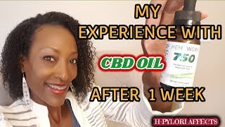 CBD OIL SIDE EFFECTS AFTER USING IT FOR H-PYLORI FOR ONE WEEK! PLUS FREE !SAMPLES | HEMPWORX