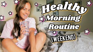 HEALTHY MORING ROUTINE *WEEKEND + MEDTERRA CBD  || Denise Anna