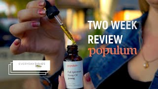 My Two Weeks with Populum CBD Oil