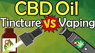 CBD Vape vs CBD Oil Tinctures Compared: THIS is The BEST Way To Use CBD! || Vaping CBD vs Drops