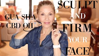 SCULPT & FIRM YOUR FACE | GUA SHA | CBD OIL #thisis60