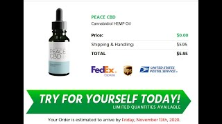Peace CBD Oil – *SCAM ALERT* Honest Reviews, Does It Reduces Anxiety & Stress?