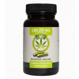 Jacob Hooy CBD Capsules One a Day 20mg 60 stuks
